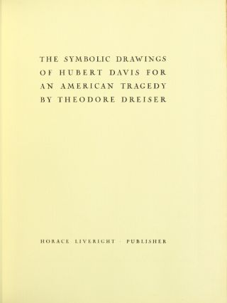 The symbolic drawings of Hubert Davis for An American Tragedy.