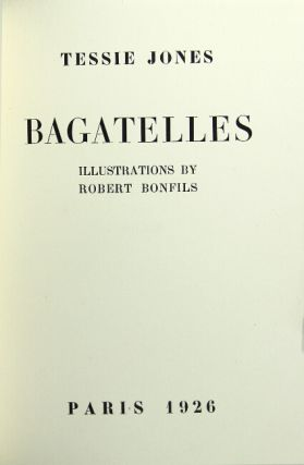 Bagatelles. Illustrations by Robert Bonfils. Tessie Jones.