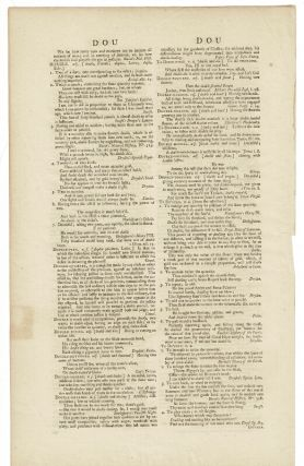 An original leaf from a copy of the first edition of … A Dictionary of the English Language...