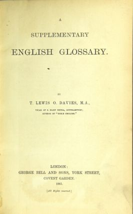 A supplementary English glossary.