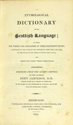 An etymological dictionary of the Scottish language … abridged from the quarto edition…