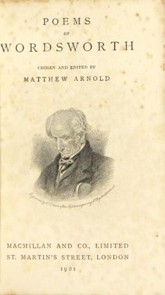 Poems. Chosen and edited by Matthew Arnold.
