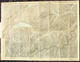 Enlarged Alpine Club map of the Swiss and Italian Alps [cover title].