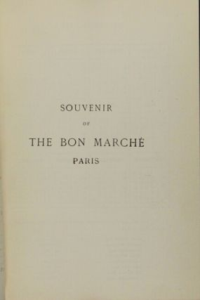Souvenir of the Bon Marche Paris. Founded by Aristide Boucicaut. Plan of Paris [cover title].