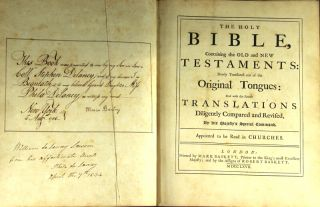 The Holy Bible, containing the Old and New Testaments: newly translated out of original tongues: and with the former translations diligently repaired and revised..