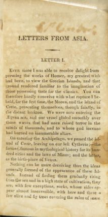 Letters from Asia; written by a gentleman of Boston to his friend in that place
