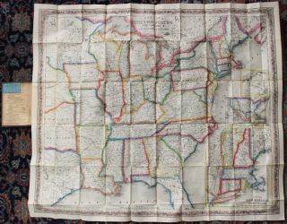 Colton's map of the United States the Canadas &c. showing the rail roads, canals, stage roads, with distances from place to place