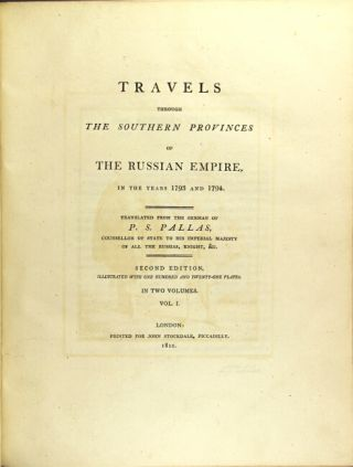 Travels through the southern provinces of the Russian Empire in the years 1793 and 1794....