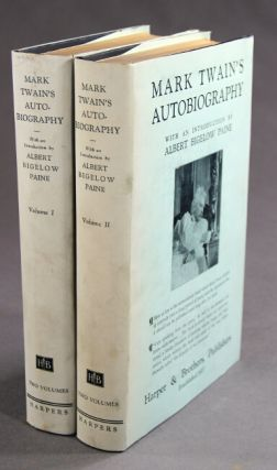 Mark Twain's autobiography with an introduction by Albert Bigelow Paine.