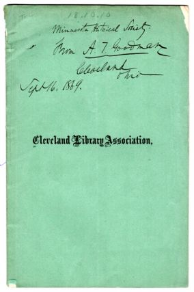 Charter, constitution and by-laws, of the Cleveland Library Association, together with the XXIst...