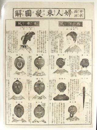 Illustrations of women's Sokuhatsu hairstyle