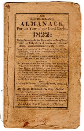 The Rhode-Island almanack, for the year of Our Lord Christ 1822