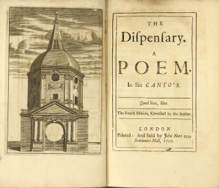 The dispensary: a poem. In six canto's. The fourth edition, corrected by the author. SAMUEL...