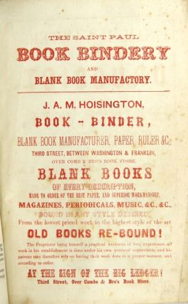 Commercial advertiser directory, for Saint Anthony and Minneapolis; to which is added a business directory, 1859-1860. H.E. Chamberlain, publisher