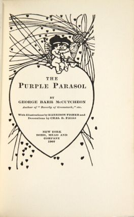 The purple parasol ... With illustrations by Harrison Fisher and decorations by Chas. B. Falls