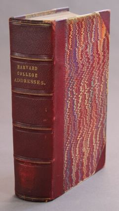 Bound volume of 19 Harvard addresses