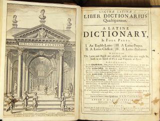 Linguæ latinæ liber dictionarius quadrapartitus. A Latine dictionary, in four parts. Adam Littleton.