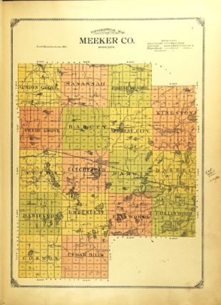 Atlas and farmers' directory of Meeker County, Minnesota, containing plats of all townships with owners names