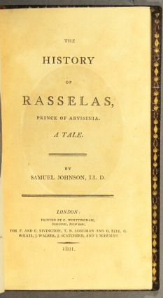 The history of Rasselas, prince of Abyssinia. A tale