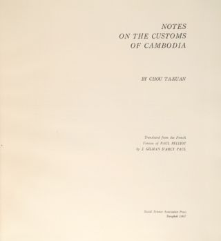 Notes on the customs of Cambodia