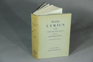 Secular lyrics of the XIVth and XVth centuries. Rossell Hope Robbins, ed