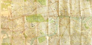 Bacon's new map of London with guide
