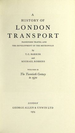 A history of London transport: passenger travel and the development of the metropolis