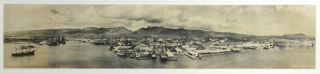 Panoramic bromide photograph of Honolulu. Chester Melvin Vaniman, photographer