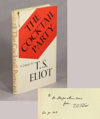 The cocktail party. A comedy. T. S. Eliot.