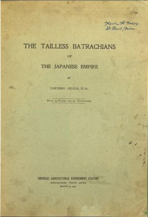 The tailless batrachians of the Japanese Empire