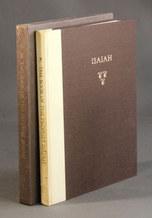 The book of the prophet Isaiah in the King James version