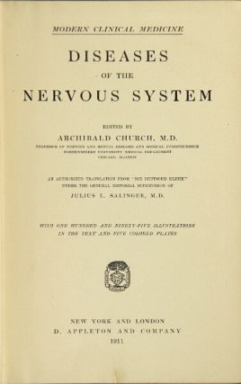 Diseases of the nervous system. Archibald Church.