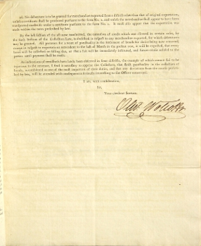Circular to the collectors and naval officers. Oliver Wolcott, Secretary of the Treasury.