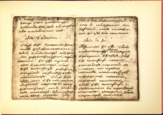 Facsimile of Pere Marquette's Illinois prayer book. It's history by the owner