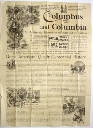 Columbus and Columbia. An authentic history of the man and the nation ... Four books / authors in one massive volume. Standard Publishing Co.