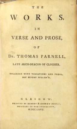 The works, in verse and prose ... enlarged with variations and poems, not before publish'd