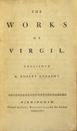 The works of Virgil. Englished by Robert Andrews