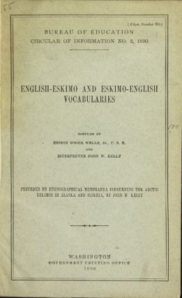 English-Eskimo and Eskimo-English vocabularies