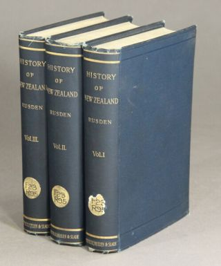 The history of New Zealand. Second edition. George William Rusden.