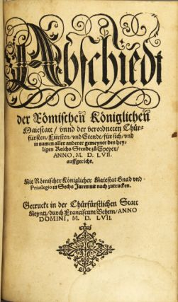 Ten 16th century German tracts in folio, as below