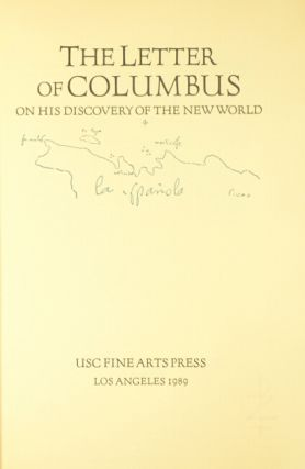 The letter of Columbus: on his discovery of the new world
