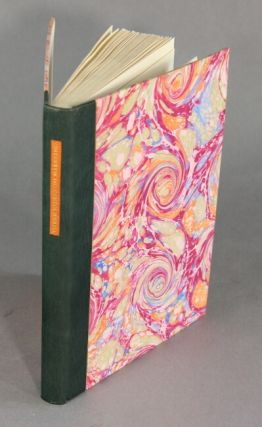 Three early French essays on paper marbling 1642-1765. With an introduction and 13 original marbled samples