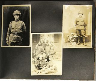 26 page photo album of Japanese military personel