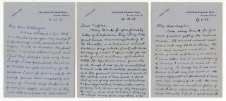 "Three autograph letters to John W. Clark, all addressed to ""Dear Confrère."" Ernest Weekley."