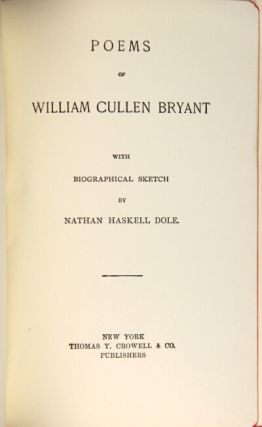 Poems ... with biographical sketch by Nathan Haskell Dole