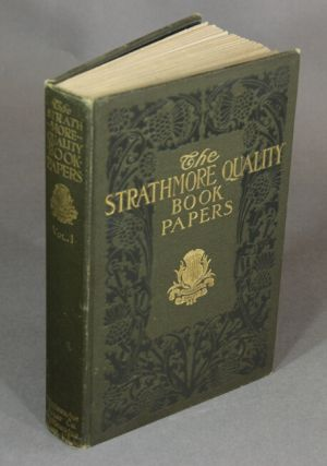 The Strathmore quality deckle edge bookpapers: Strathmore Japan, Old Cloister, Strathmore, Old Stratford, Alexandra