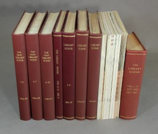 The library binder, vols. 1-19, (1952-71). [With:] The library scene, vols. 1-10, (1972-1981). [With:] The new library scene, vol. 1- vol. 11, no. 1 (1982-92). Ernest Hertzberg, O. Paul Heckman.