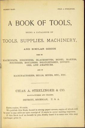 A book of tools, being a catalogue of tools, supplies, machinery, and similar goods...