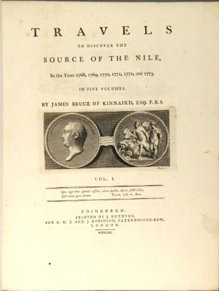 Travels to discover the source of the Nile, in the years 1768…1773