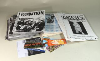 A small collection of 85 magazines, 43 poster/calendars, 13 Danceteria Tickets, & more. First...